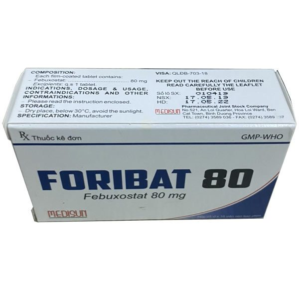 Hộp thuốc Foribat 80